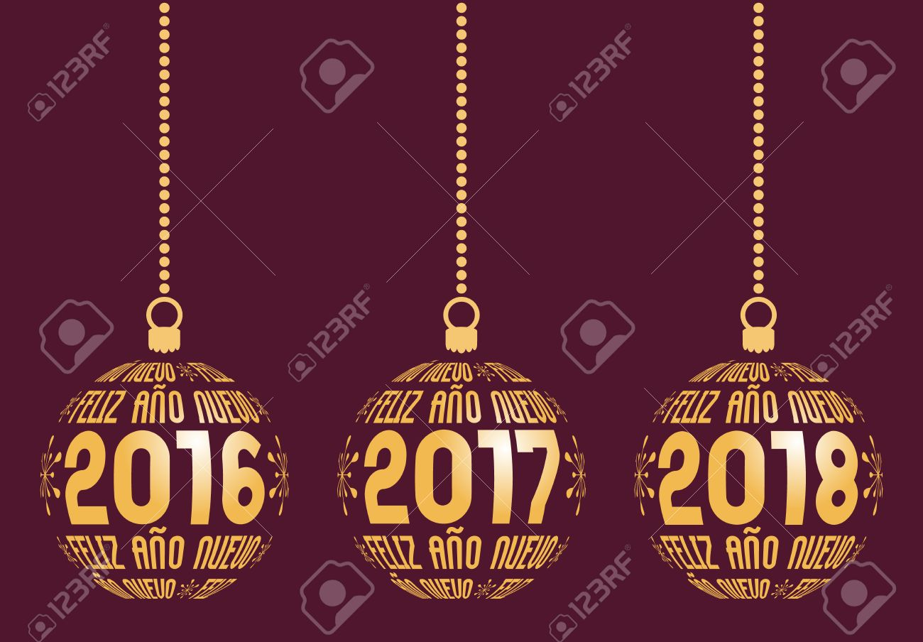spanish happy new year graphic elements for years 2016 2017 2018 christmas spain