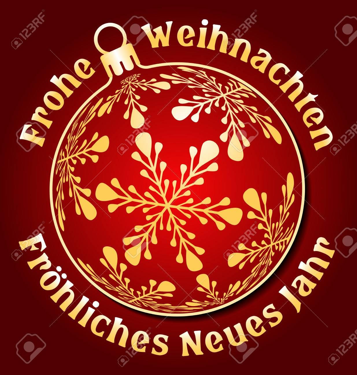 Frohe Weihnachten Aus Deutschland.Stock Photo