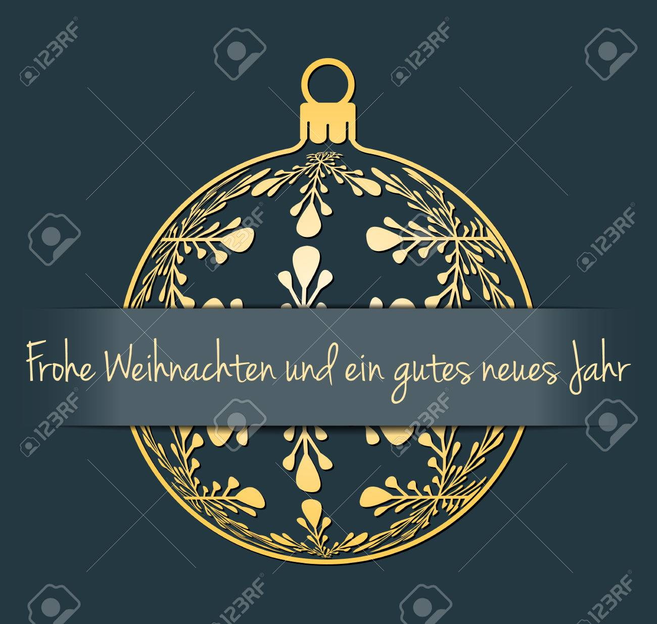 German merry christmas and happy new year greeting card gold german merry christmas and happy new year greeting card gold silhouette of christmas ball with m4hsunfo