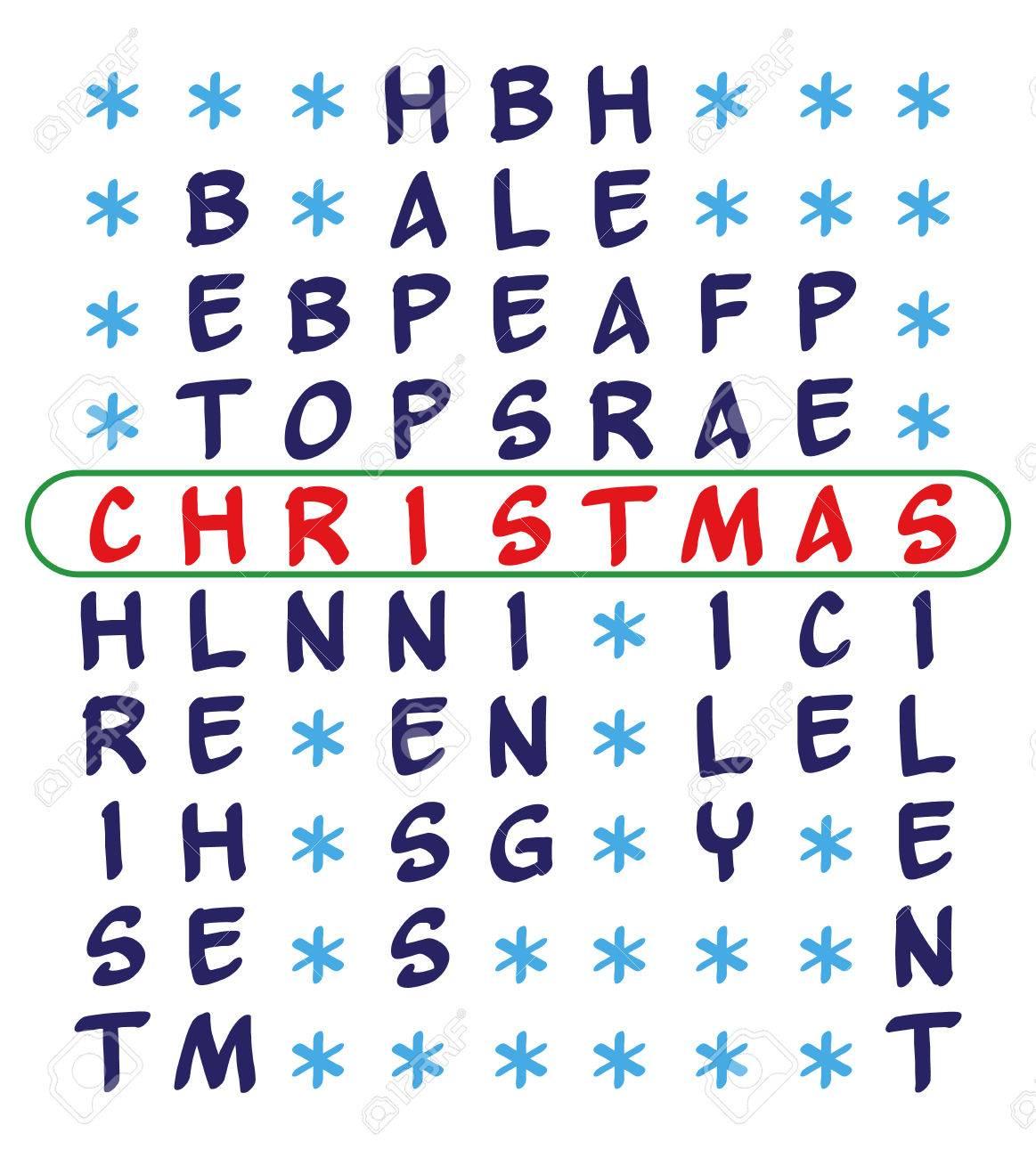 Noël Fond Crossword Casse Tête Pour Le Mot De Noël Et Les Mots