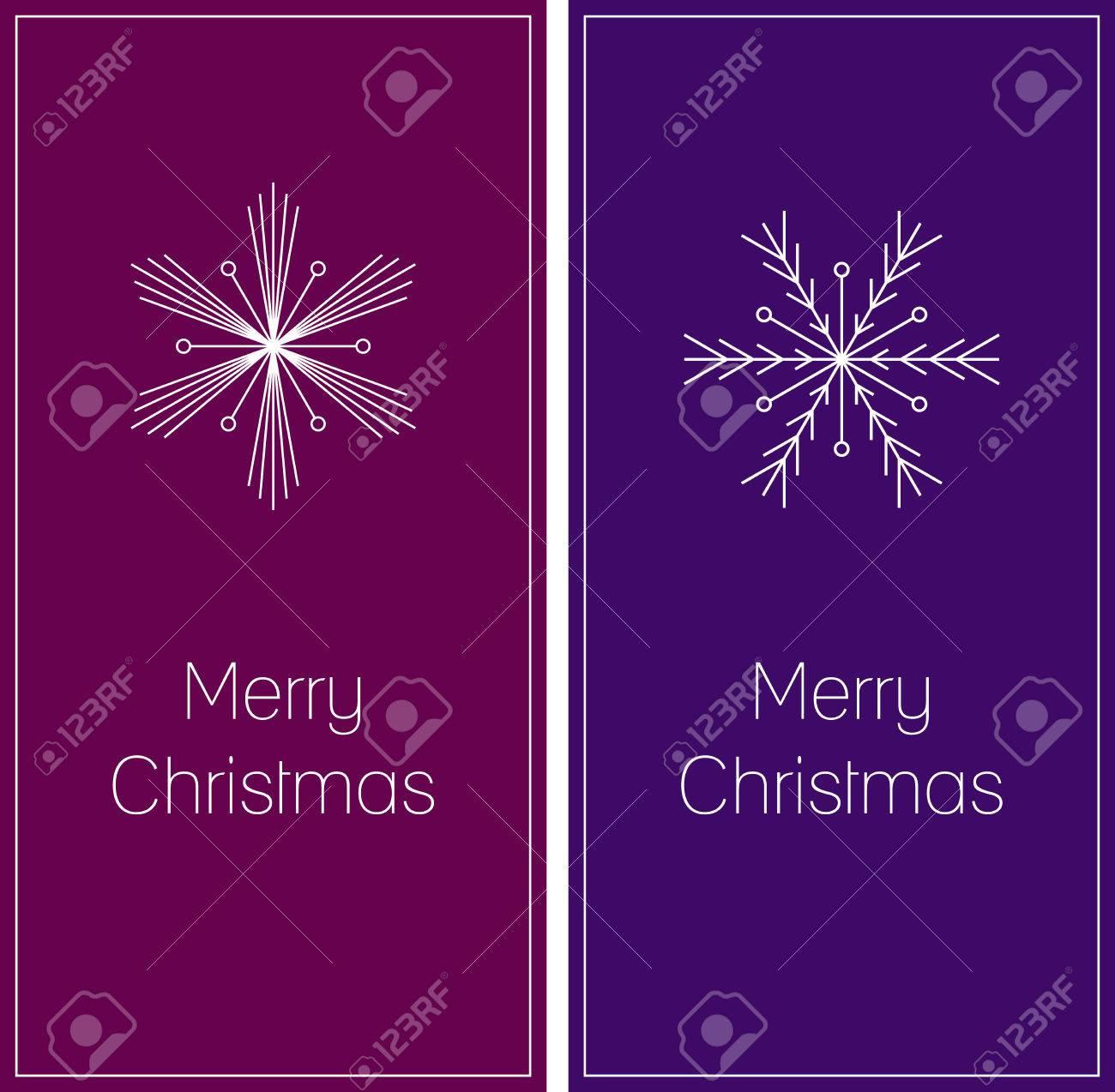 Minimalistic set of two christmas greeting cards with snowflake minimalistic set of two christmas greeting cards with snowflake and text merry christmas on dark m4hsunfo