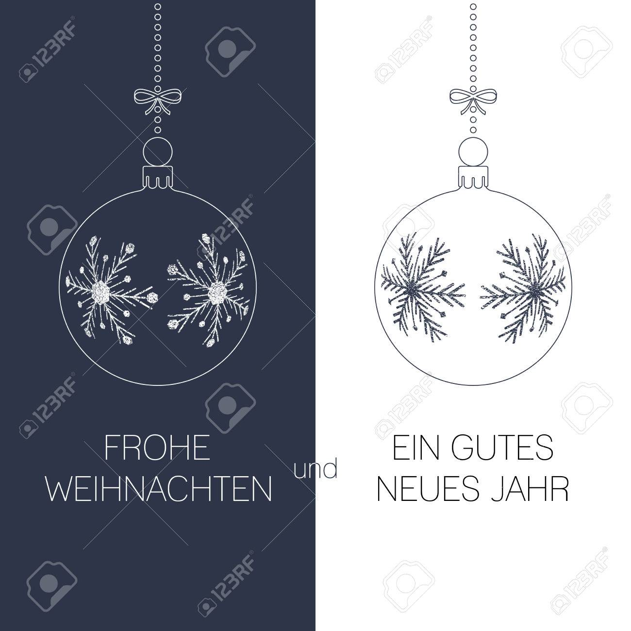 German christmas and new year greeting card with textured christmas german christmas and new year greeting card with textured christmas balls and text duotone germany m4hsunfo