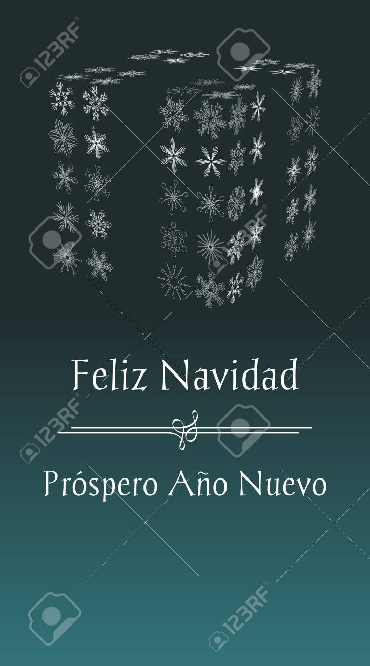 Spanish christmas greeting card with text merry christmas and spanish christmas greeting card with text merry christmas and happy new year vertical spain holiday m4hsunfo