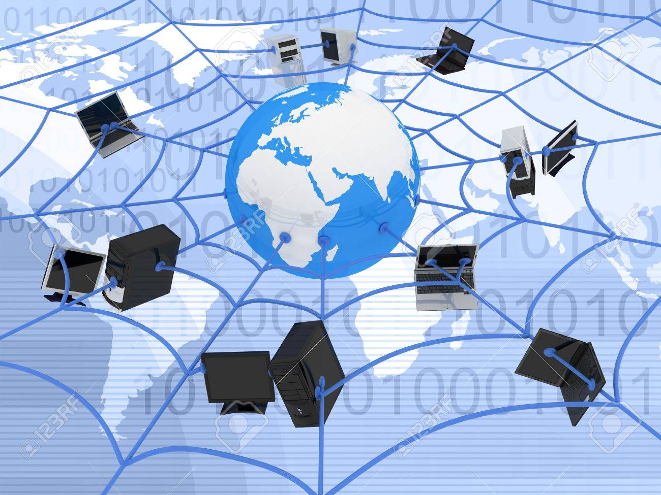 abstract presentation of the internet web Stock Photo - 5998451