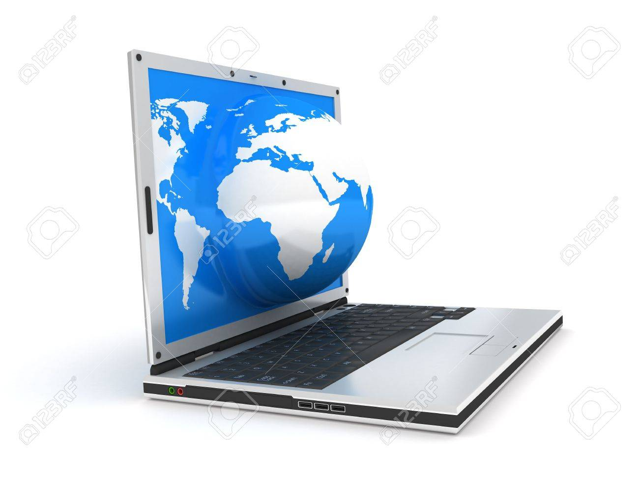 abstract presentation of the internet on earth Stock Photo - 5998448