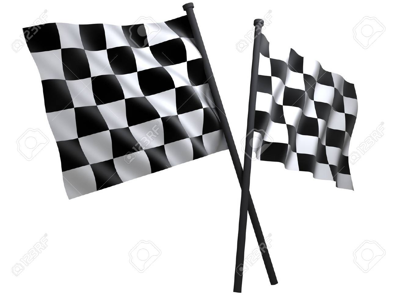 flag of start or finesha, done in 3d Stock Photo - 7800317