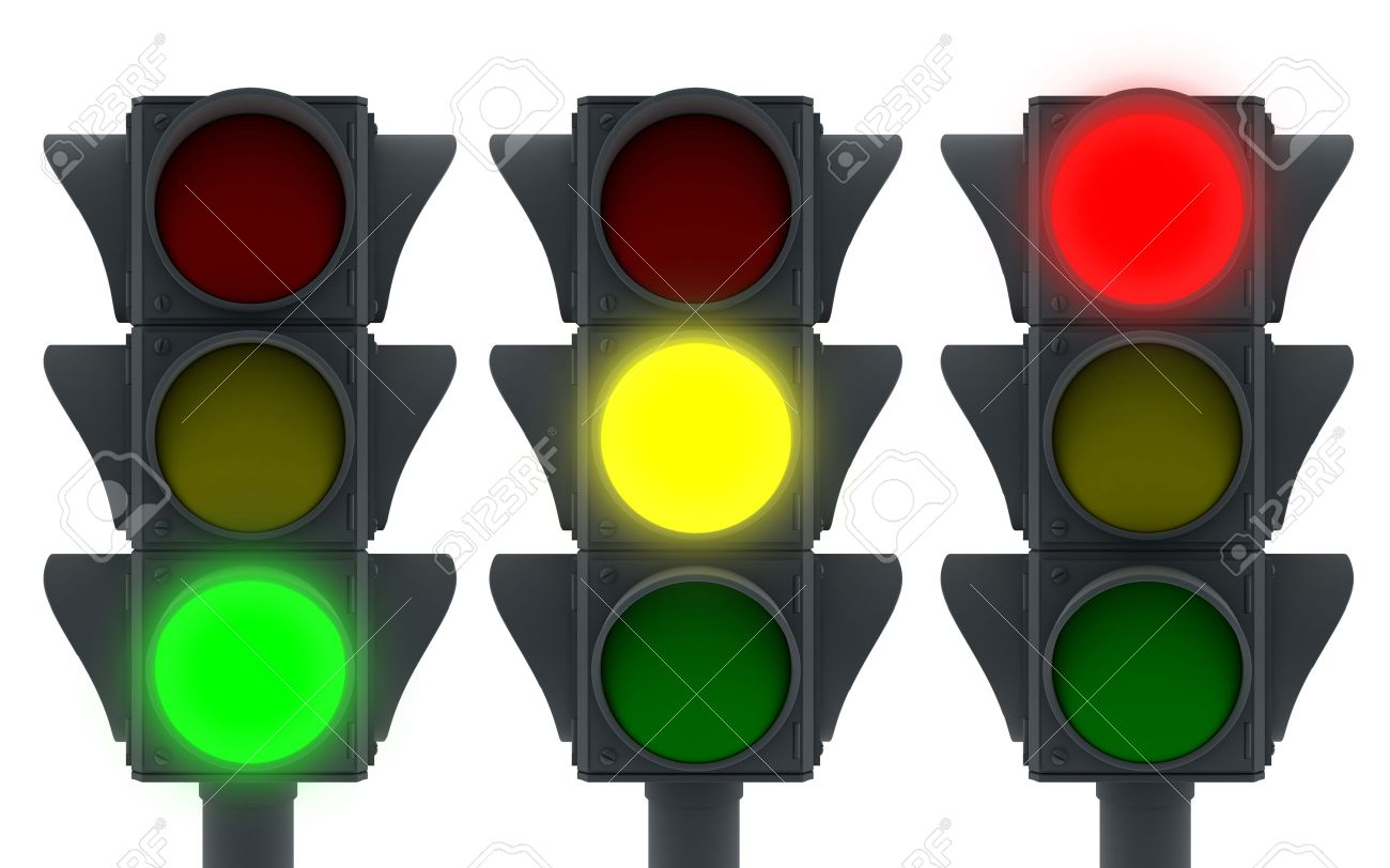 Traffic Lights Icon (3d, Isolated) Stock Photo, Picture And Royalty ... for Traffic Light Green Icon  45hul