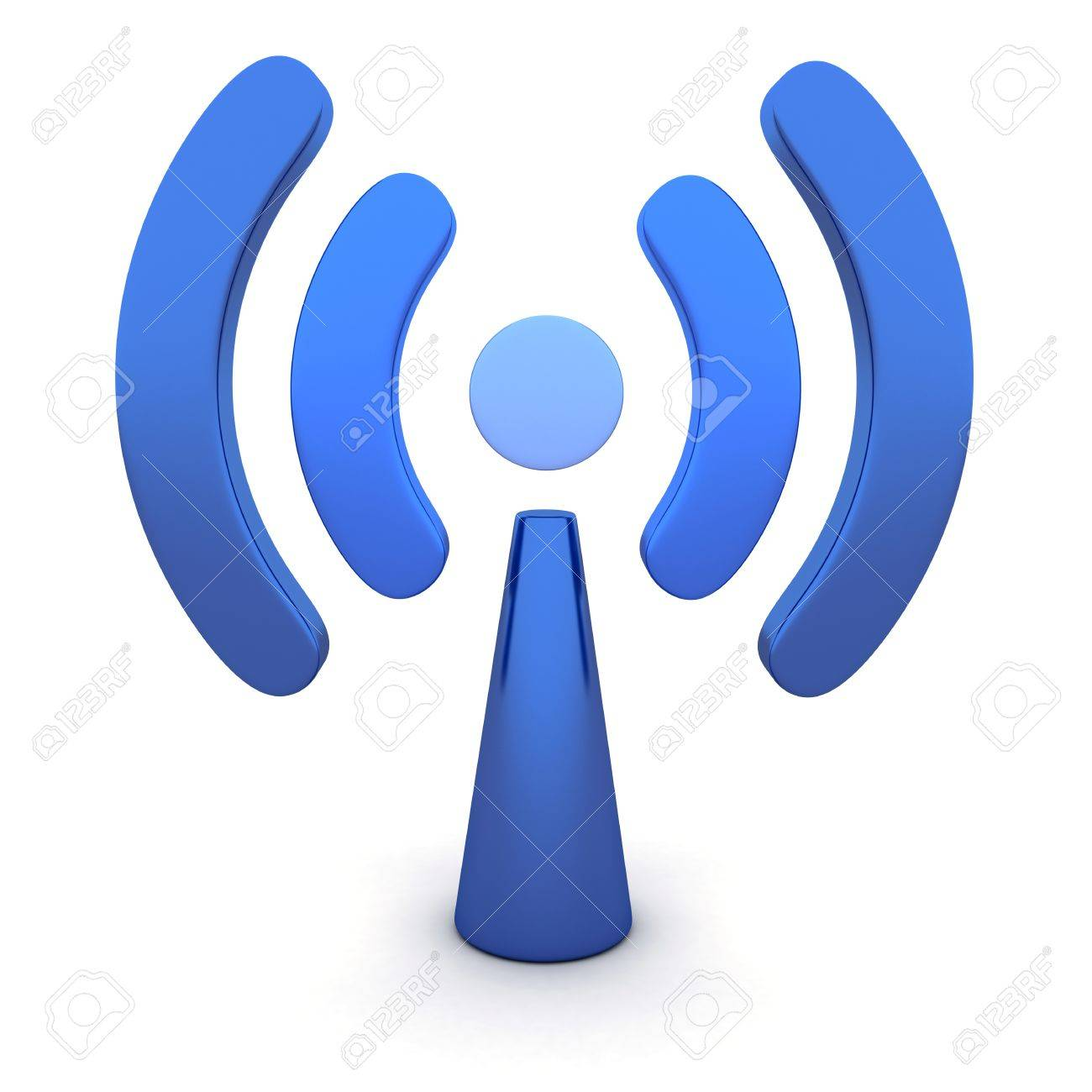 Abstract Wi-fi on white background (done in 3d) Stock Photo - 10766834