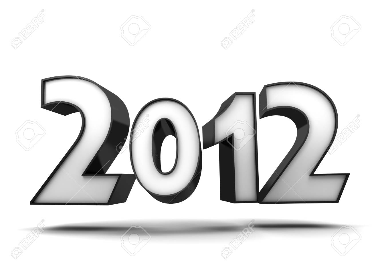 Abstract new year (done in 3d, isolated) Stock Photo - 11282139