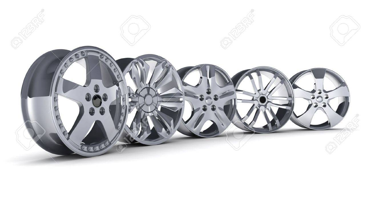 Five car disc on a white background (done in 3d) Stock Photo - 12326964