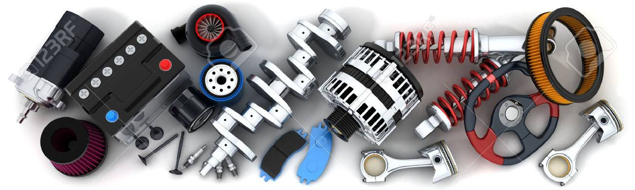 Many auto parts (done in 3d) - 29737075