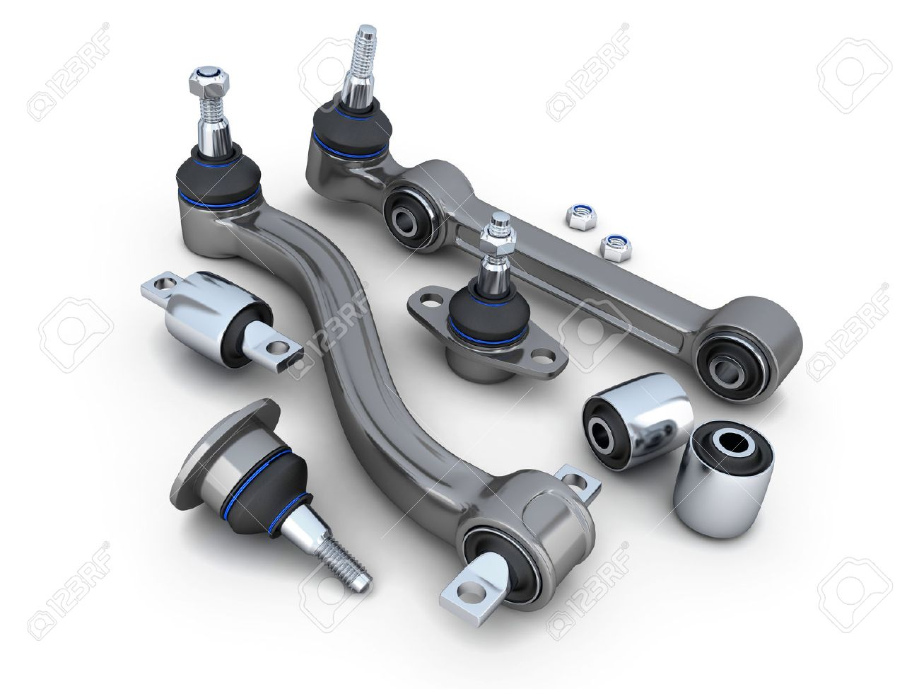 Ball Joint Car >> Suspension Arm And Ball Joint Car Done In 3d