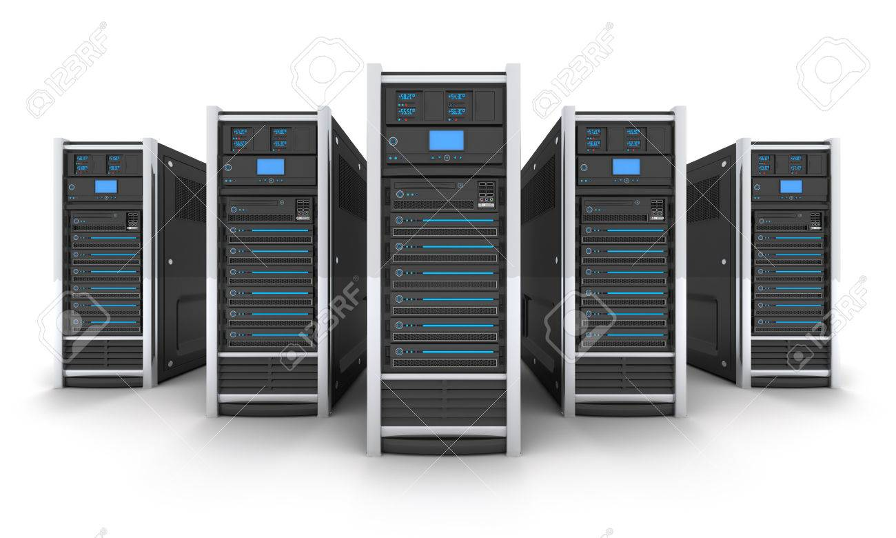 Five Server high-end, view front (done in 3d) - 43076101