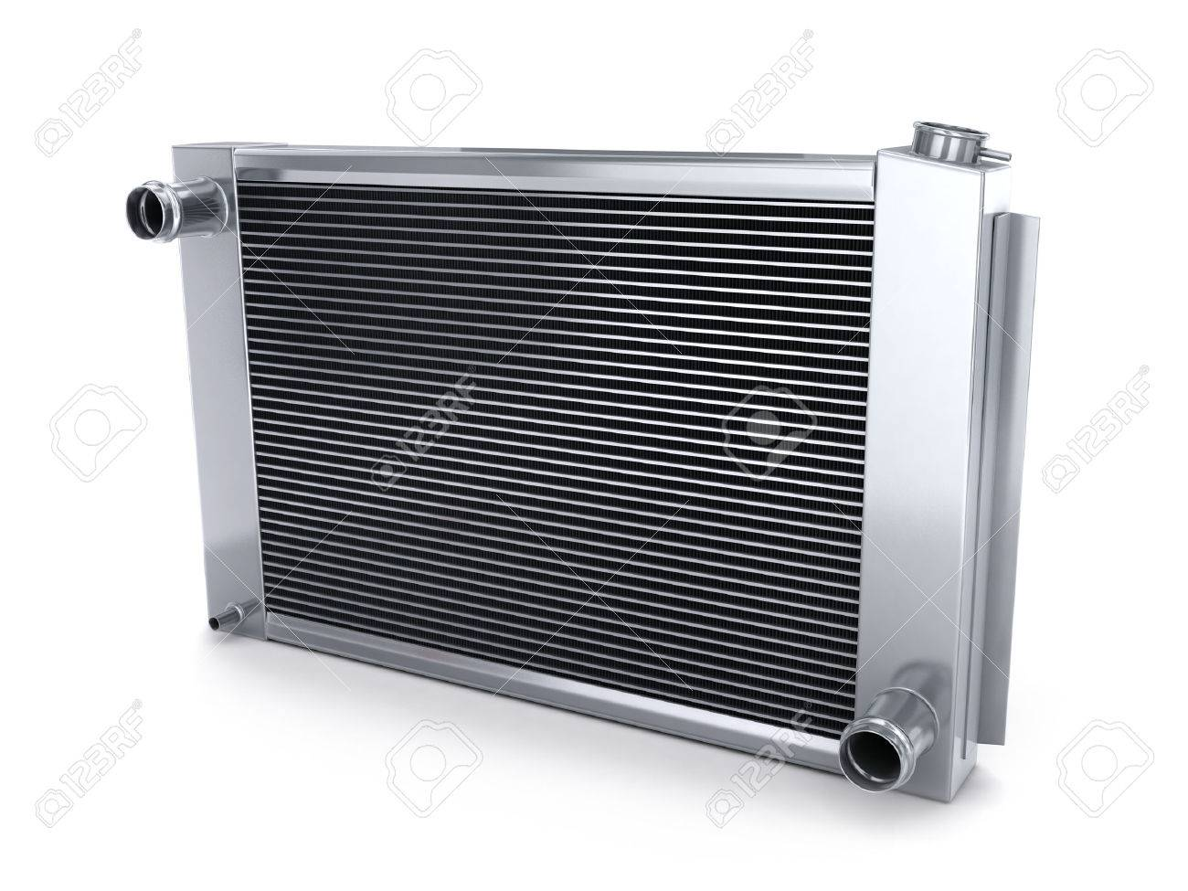 Car radiator (done in 3d, on white background) - 43621824