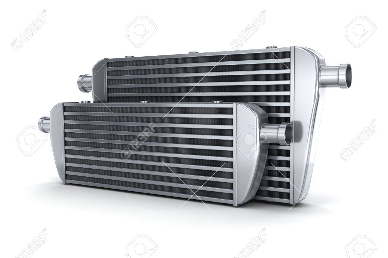 Car intercooler (done in 3d, on white background) - 44192975