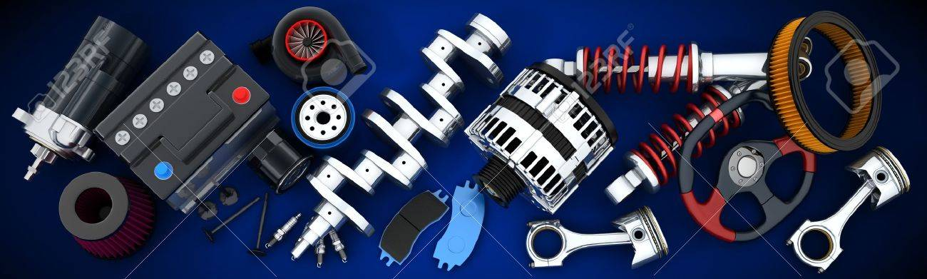Many auto parts (done in 3d) - 45359997