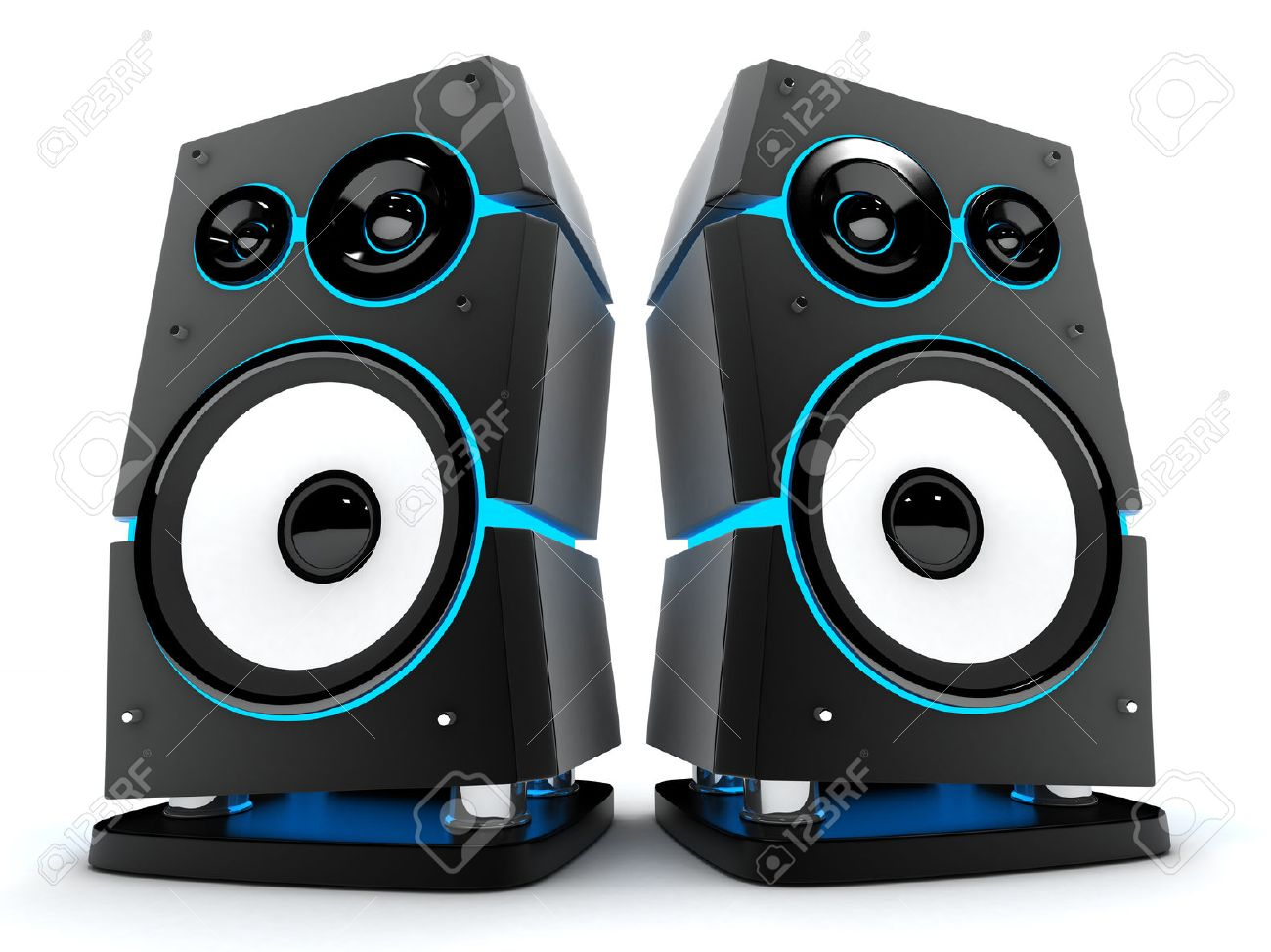 Speakers box modern on a white background (done in 3d) - 51916965