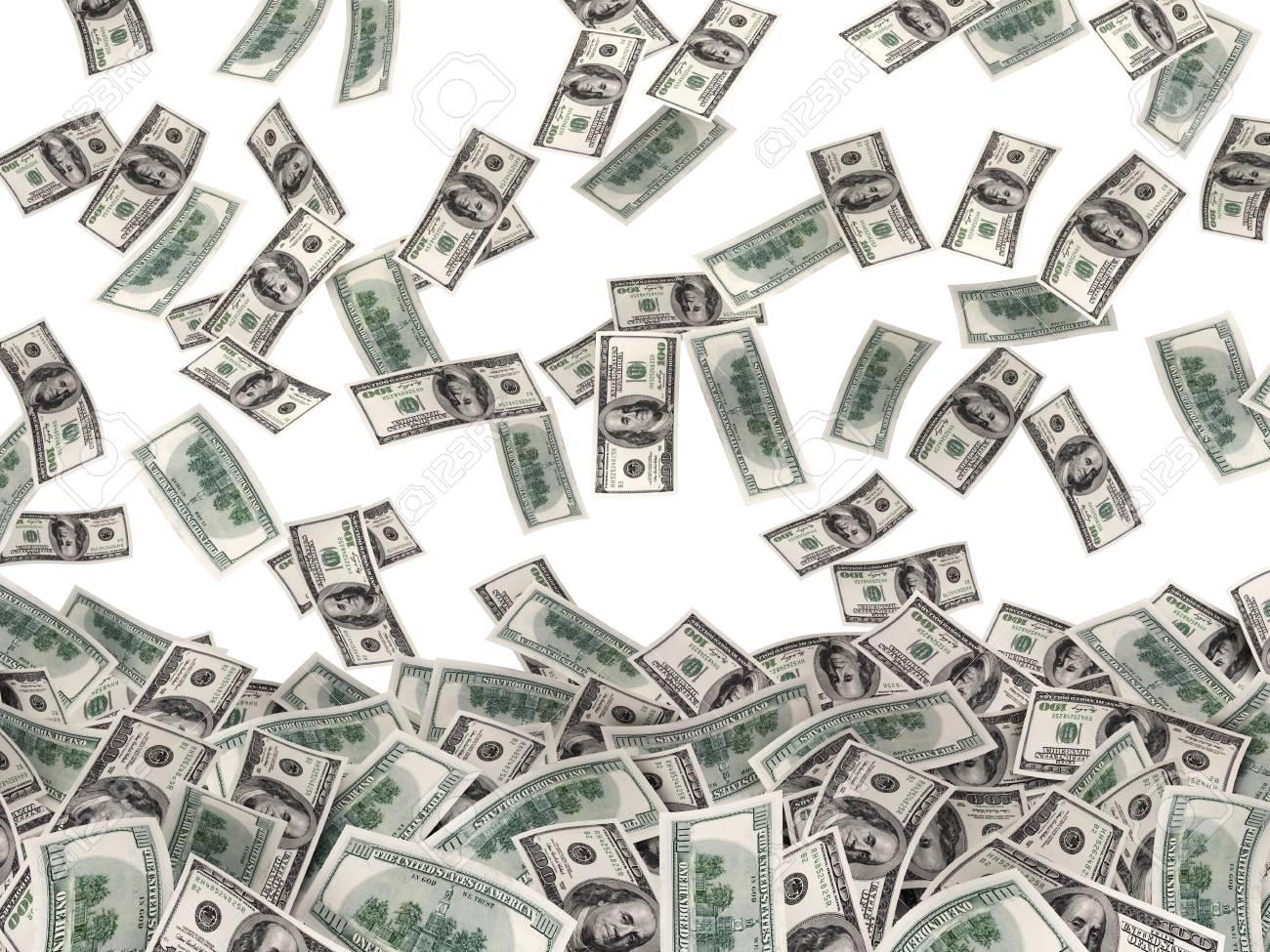 Muchos Mucho Dinero En El Fondo Blanco 3d Ilustración Fotos