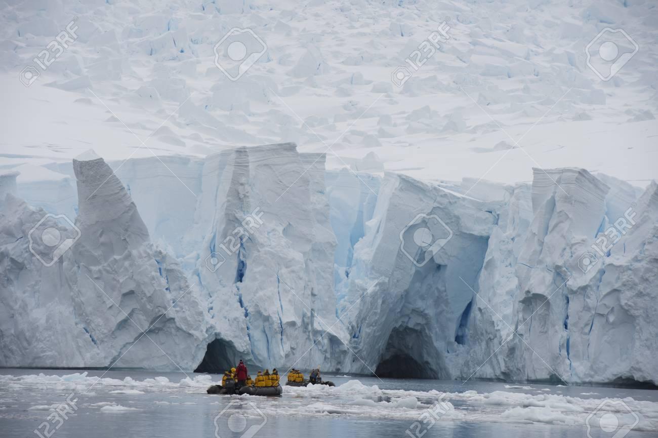 Iceberg off coast of Antarctica travel on Zodiak - 56302931