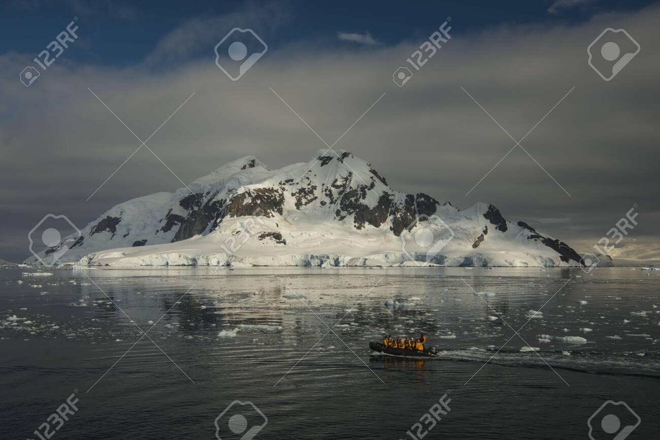 Mountain view beatiful view sunset in Antarctica - 144215658