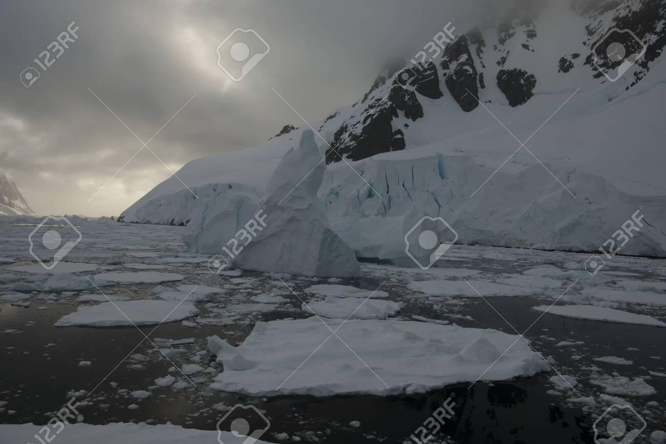 Beautiful view of icebergs in Antarctica - 143574245