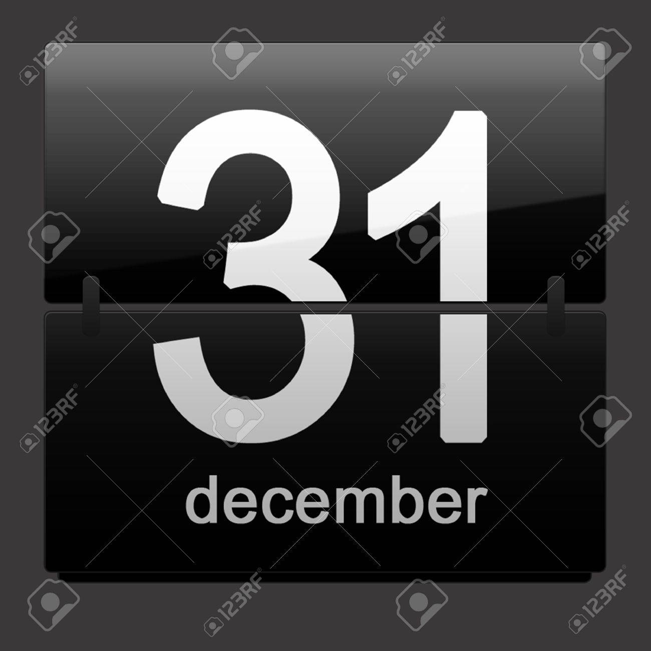 Last day of the year – December 31st Stock Photo - 10940002