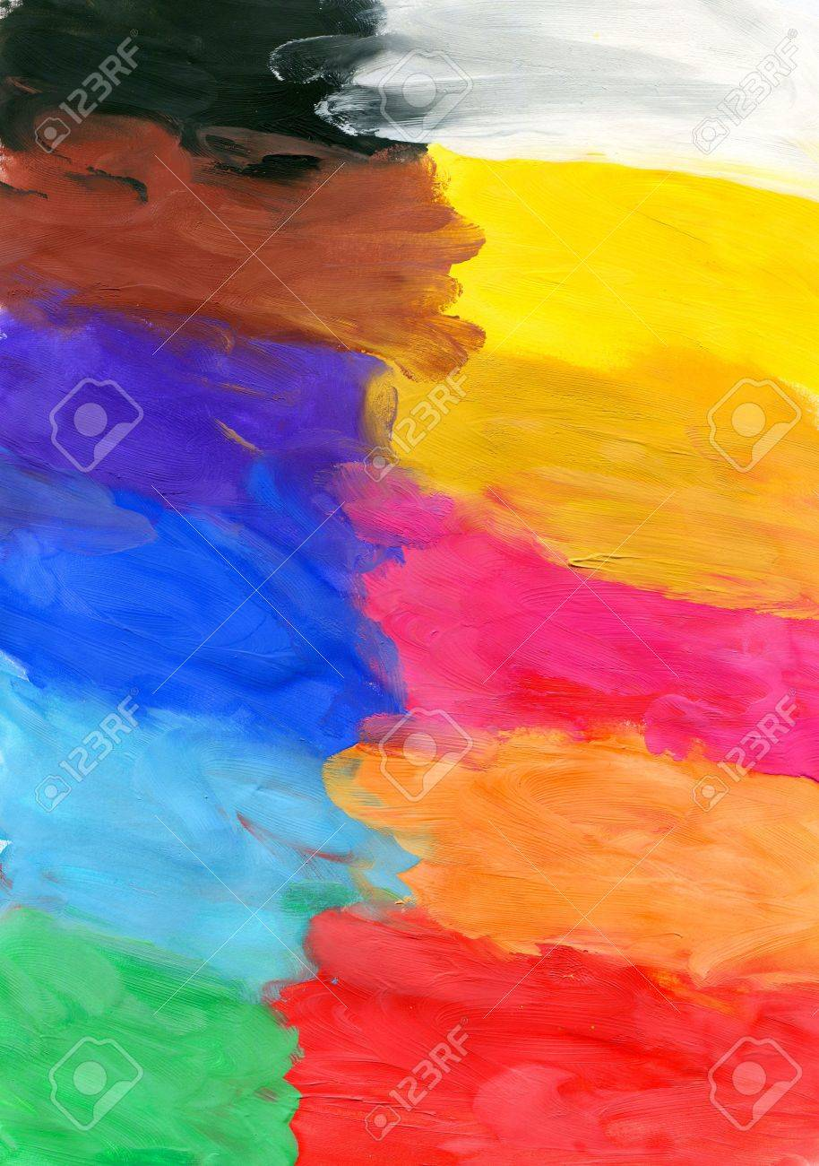 Colored watercolor brush strokes, may be used as background Stock Photo - 13197938