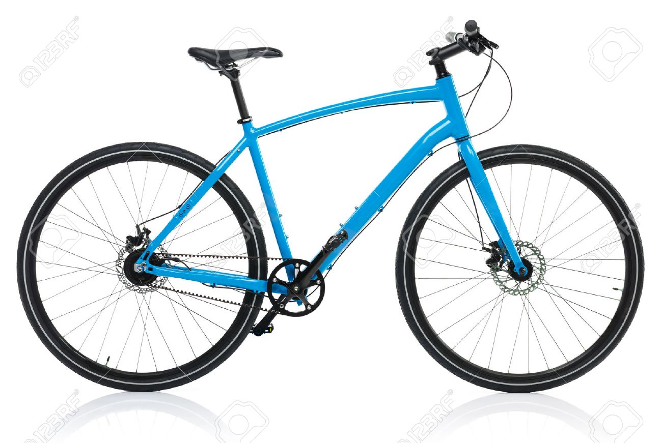 New blue bicycle isolated on a white background - 50562764
