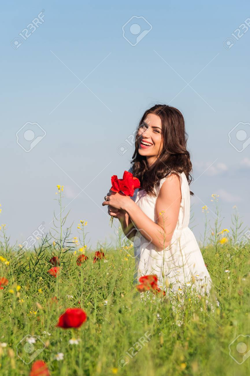 Free Happy Woman Enjoying Nature Beauty Girl Outdoor Freedom Stock Photo Picture And Royalty Free Image Image 41819237