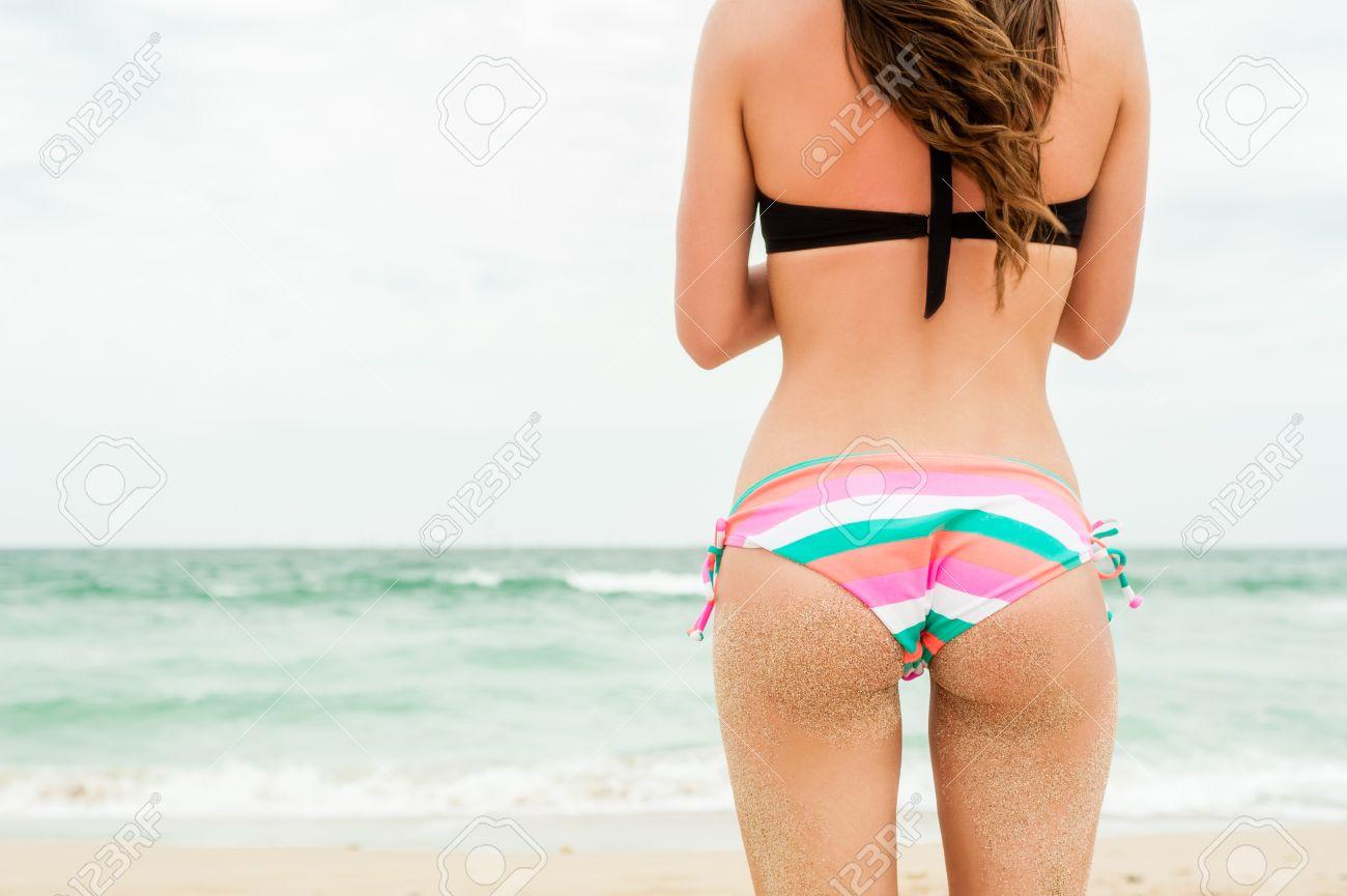 Picture of girl wearing thong bikini