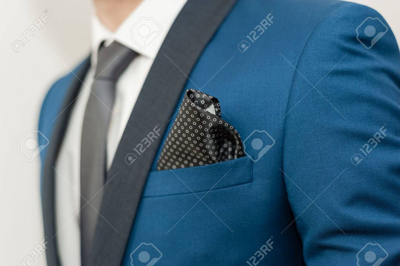 Close-up Shot Of A Man Dressed In Formal Wear .Groom\'s Suit Stock ...