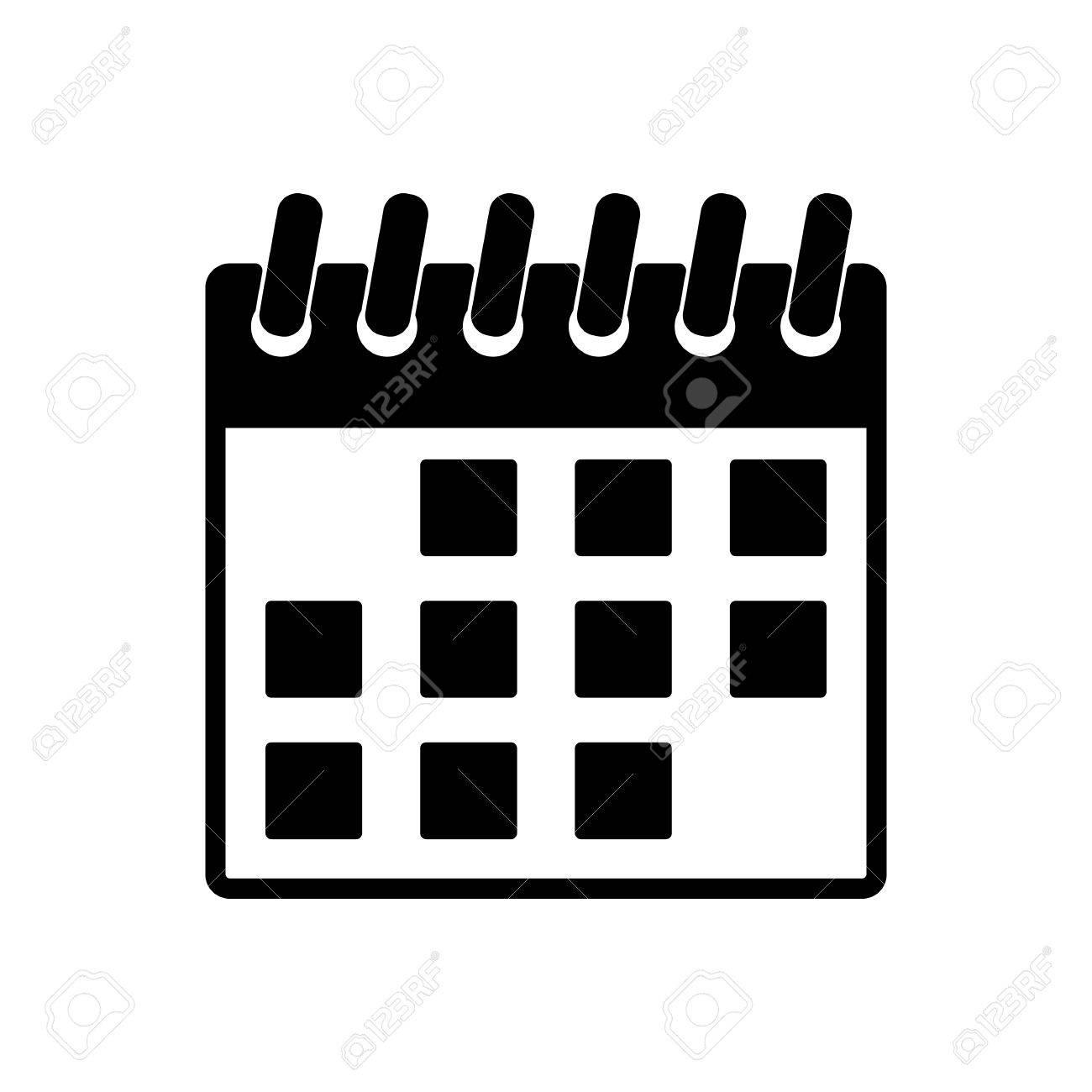 Illustration Calendrier.The Calendar Icon Calendar Symbol Flat Vector Illustration