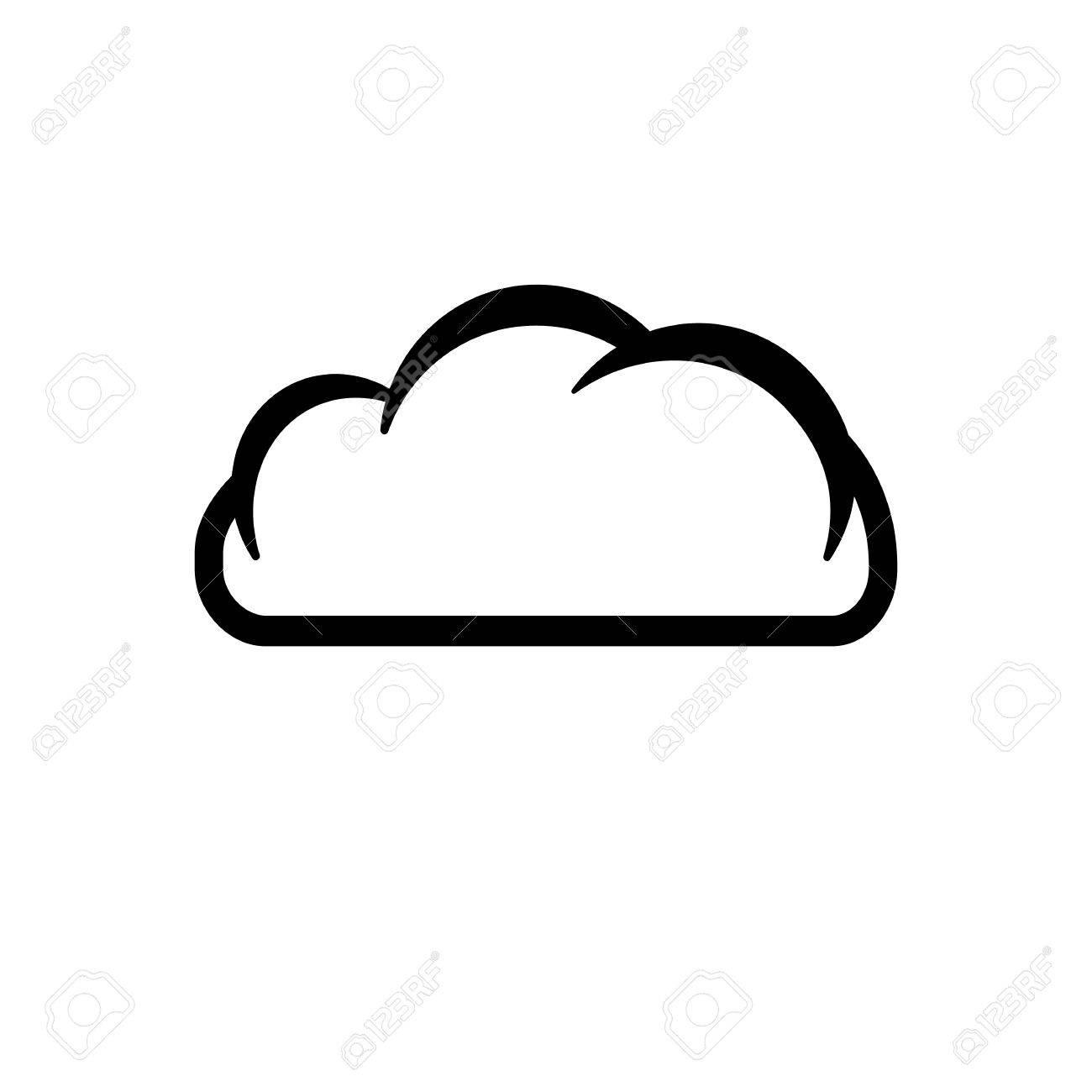 The cloud icon cloud symbol flat vector illustration royalty the cloud icon cloud symbol flat vector illustration stock vector 39083569 biocorpaavc Gallery