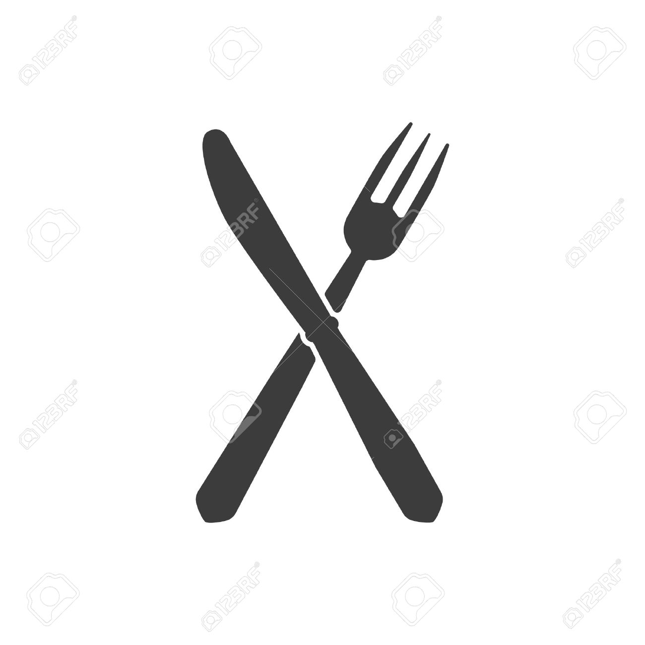 The Knife And Fork Icon Knife And Fork Symbol Flat Vector