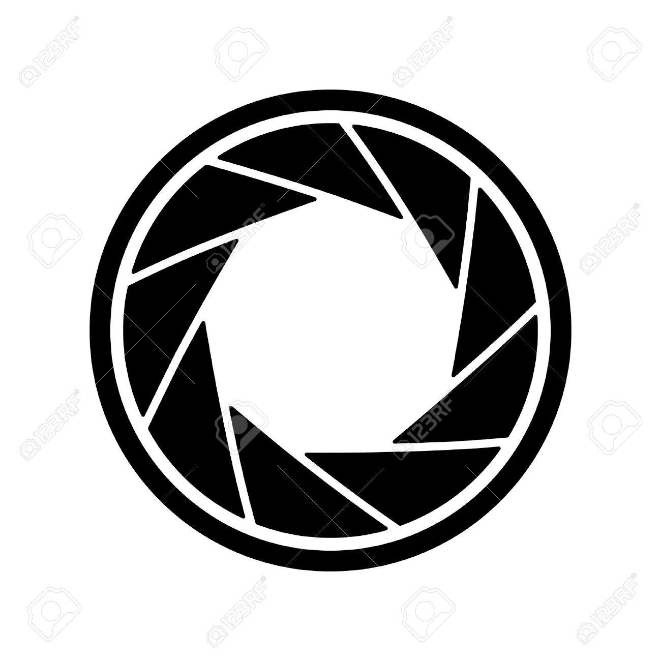 El Icono De Diafragma. Símbolo De Apertura Ilustración Vectorial ...