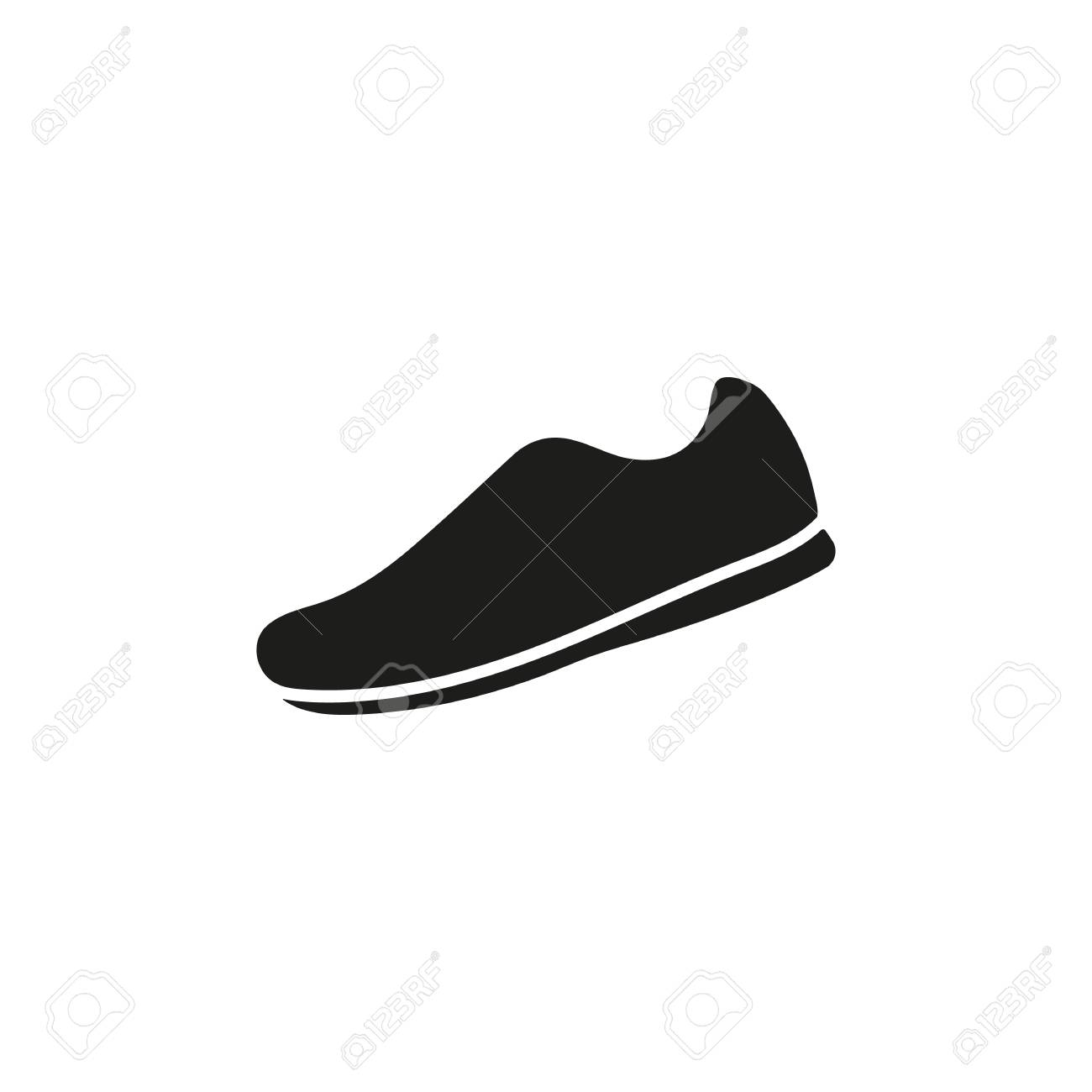 The sneaker icon. Shoes symbol. Flat Vector illustration Stock Vector -  40088913 2684d979010d