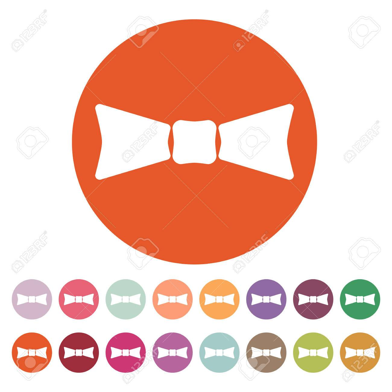 The Bow Tie Icon Bow Tie Symbol Flat Vector Illustration Button