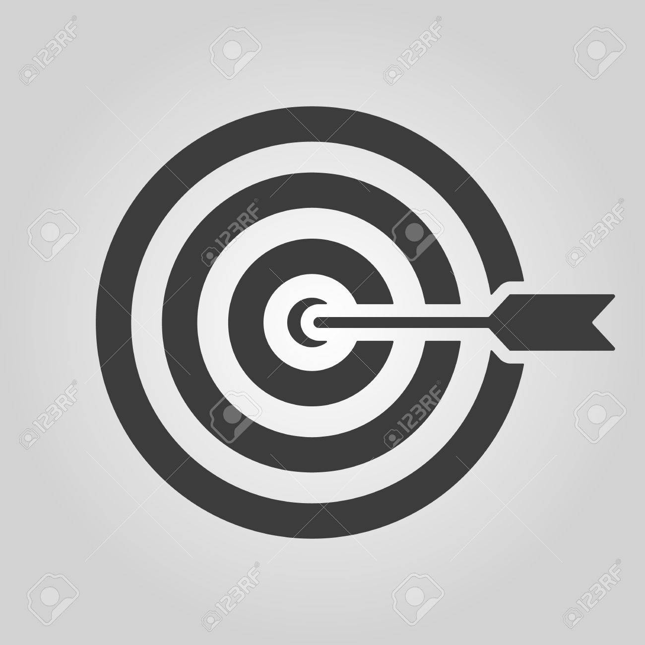 The target icon target symbol flat vector illustration royalty the target icon target symbol flat vector illustration stock vector 40774223 buycottarizona Image collections