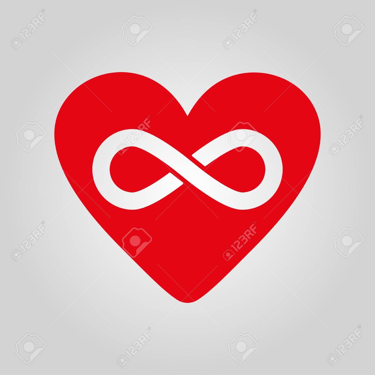 El Icono De Corazón Y El Infinito Corazón Y Símbolo Del Infinito