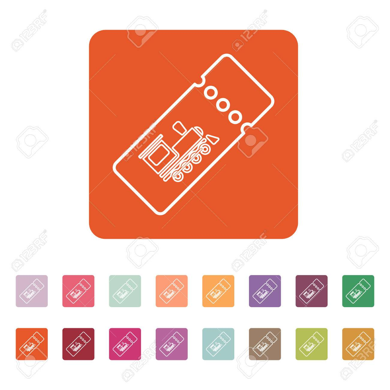 The Blank Train Ticket Icon Stock Vector