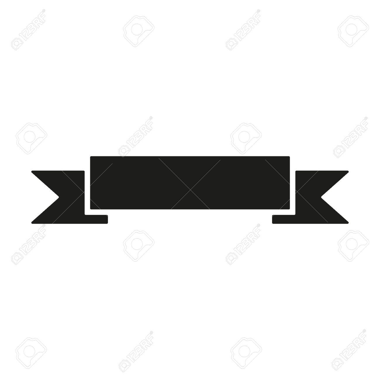 The Banner Icon Ribbon Symbol Flat Vector Illustration Royalty