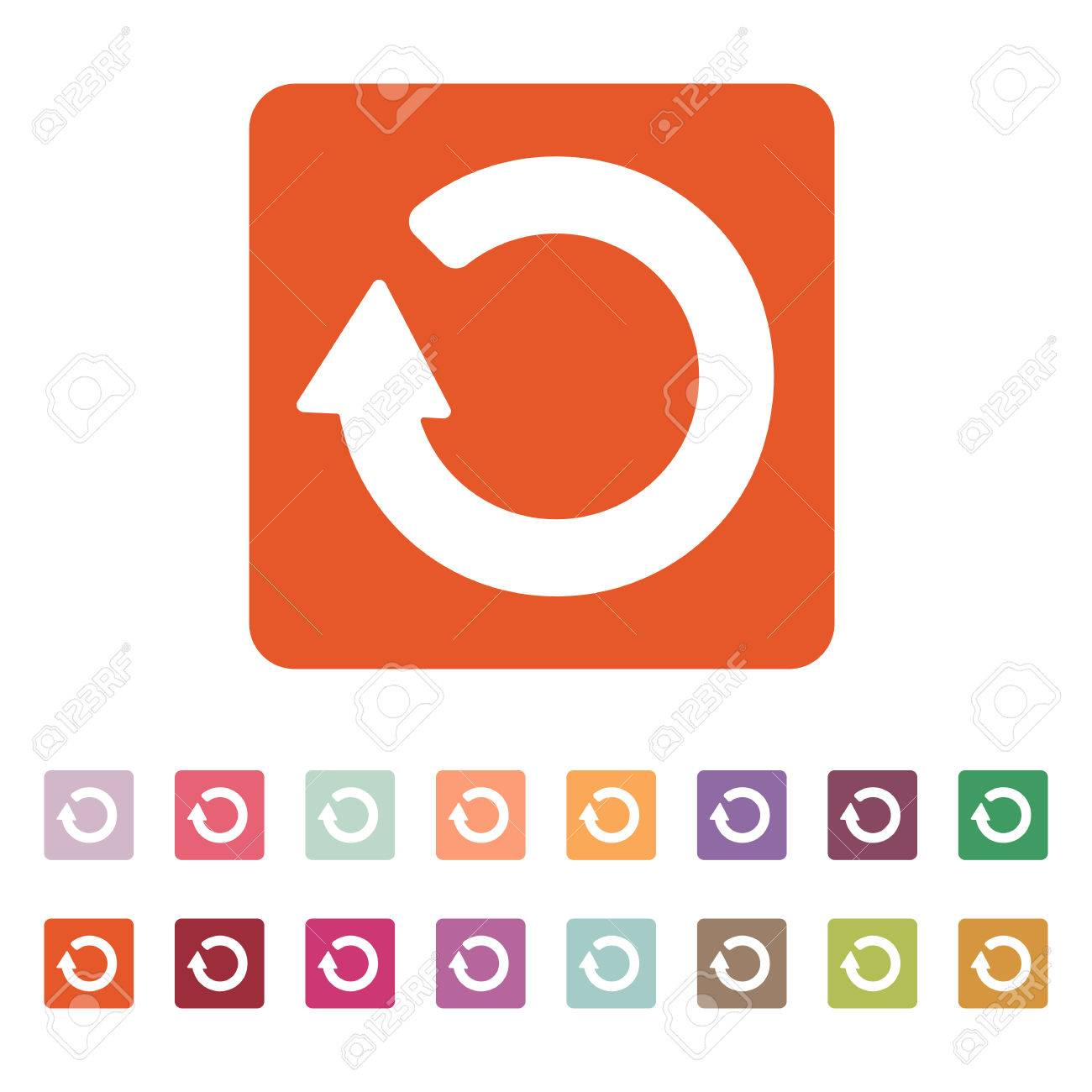 The refresh icon loading symbol flat vector illustration button loading symbol flat vector illustration button set stock vector biocorpaavc Image collections