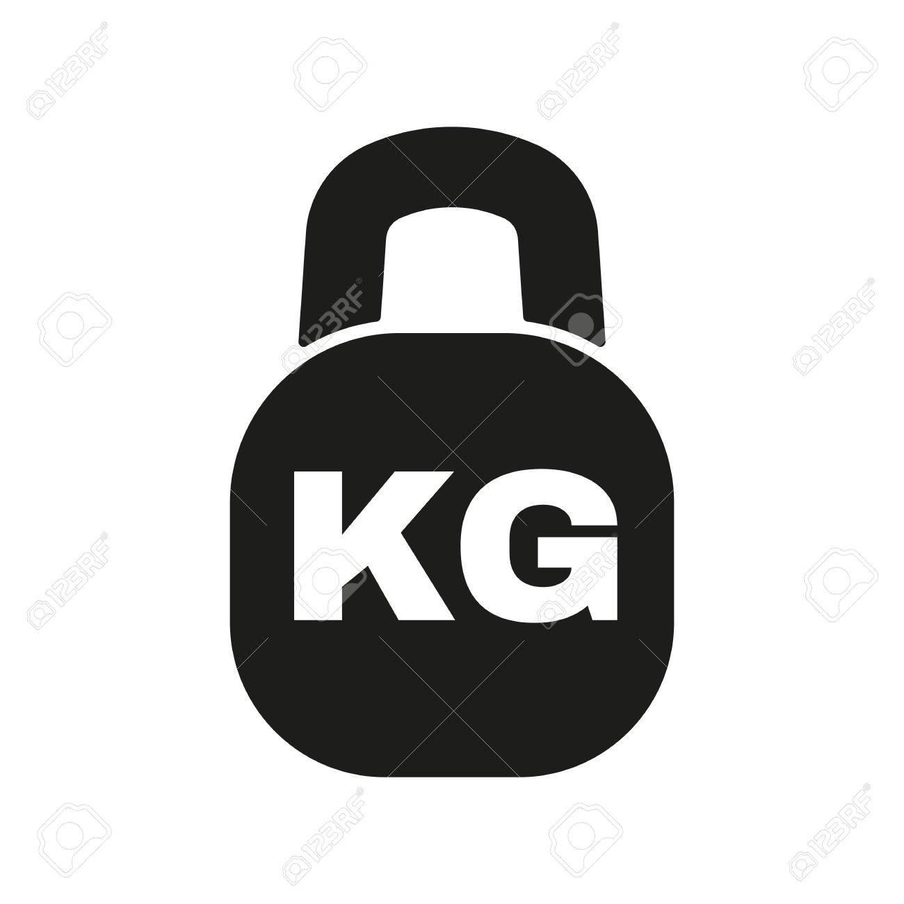 キログラムのアイコン。Kg と重...