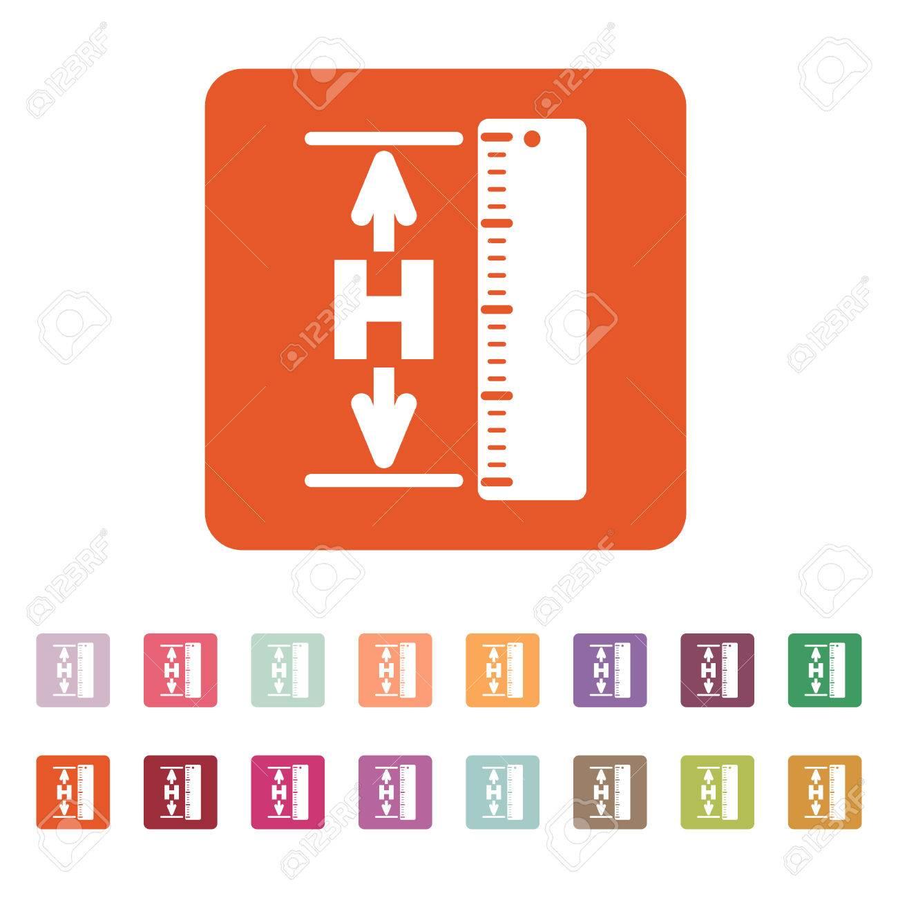 The Height Icon Altitude Elevation Level Hgt Symbol Flat - Altitude elevation