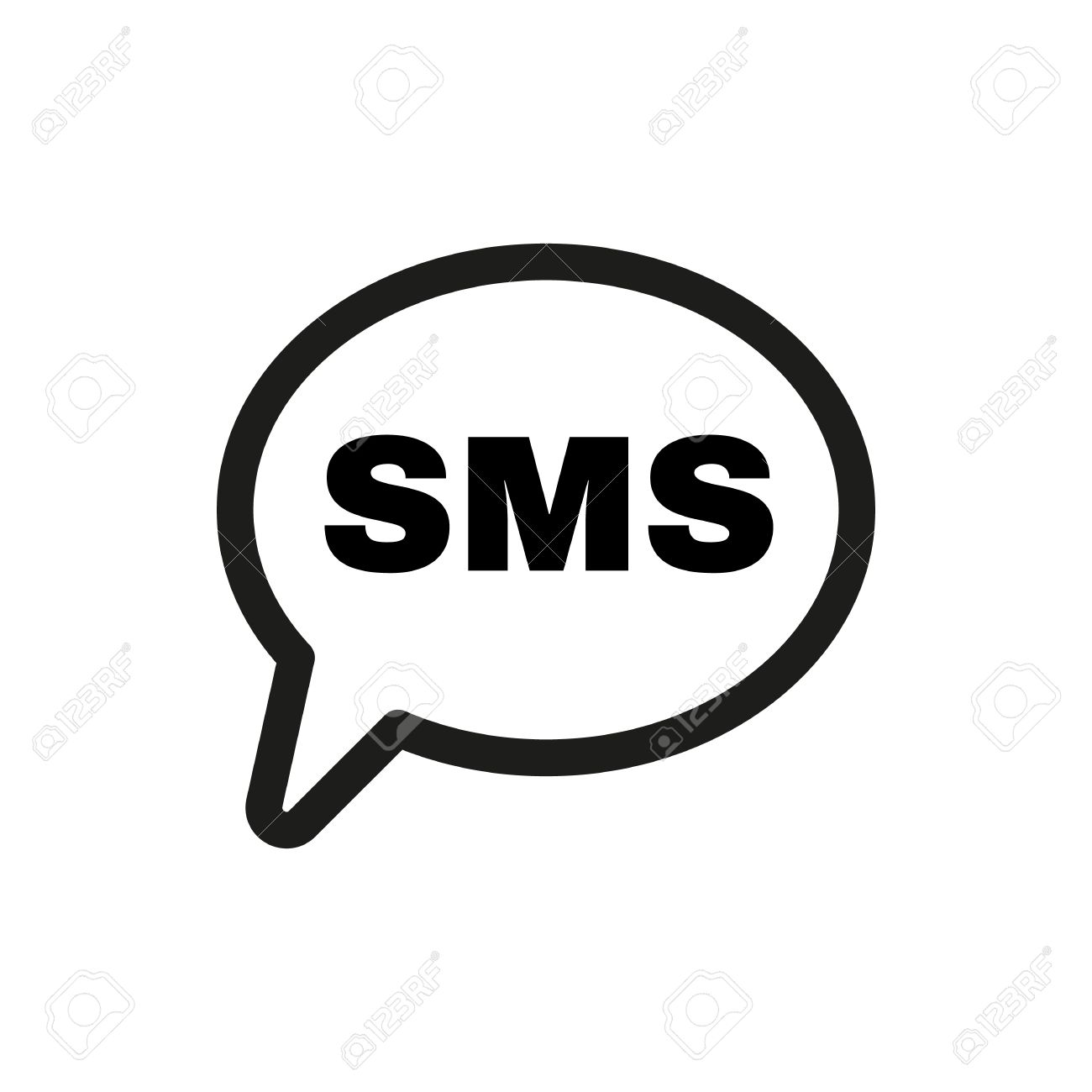 the sms icon text message symbol flat vector illustration royalty