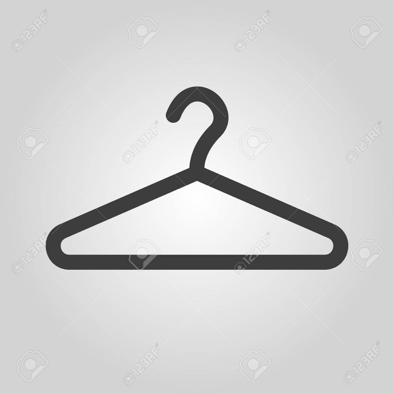 The hanger icon coat rack symbol flat vector illustration the hanger icon coat rack symbol flat vector illustration stock vector 42395168 buycottarizona