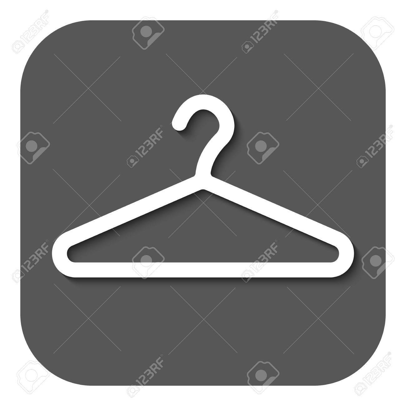The hanger icon coat rack symbol flat vector illustration the hanger icon coat rack symbol flat vector illustration button stock vector buycottarizona