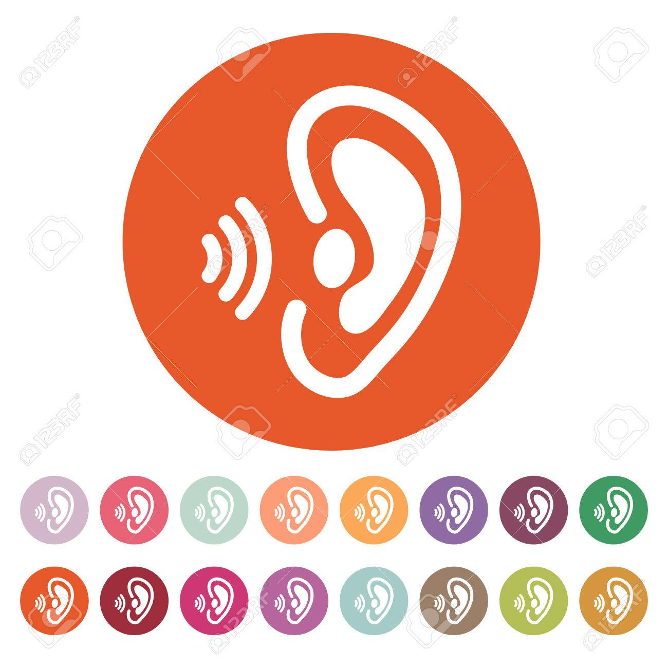 the ear icon sense organ and hear understand symbol royalty free