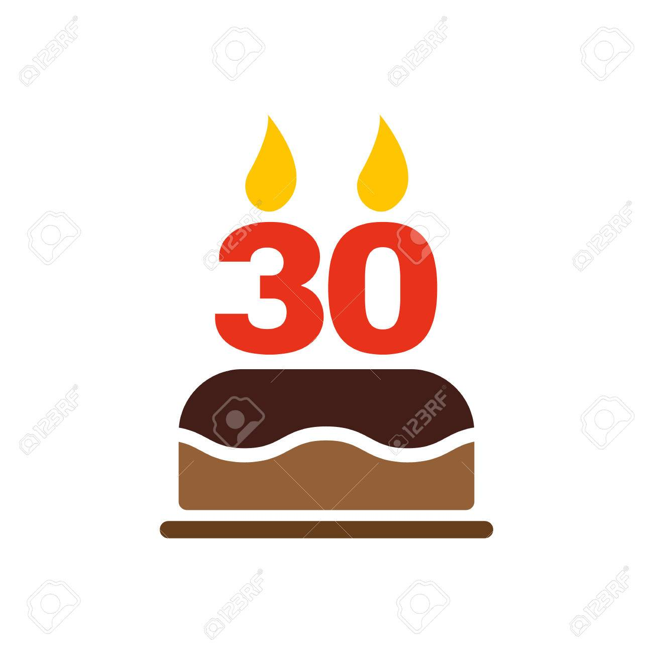Cake symbol text choice image symbol and sign ideas the birthday cake with candles in the form of number 30 icon the birthday cake with buycottarizona