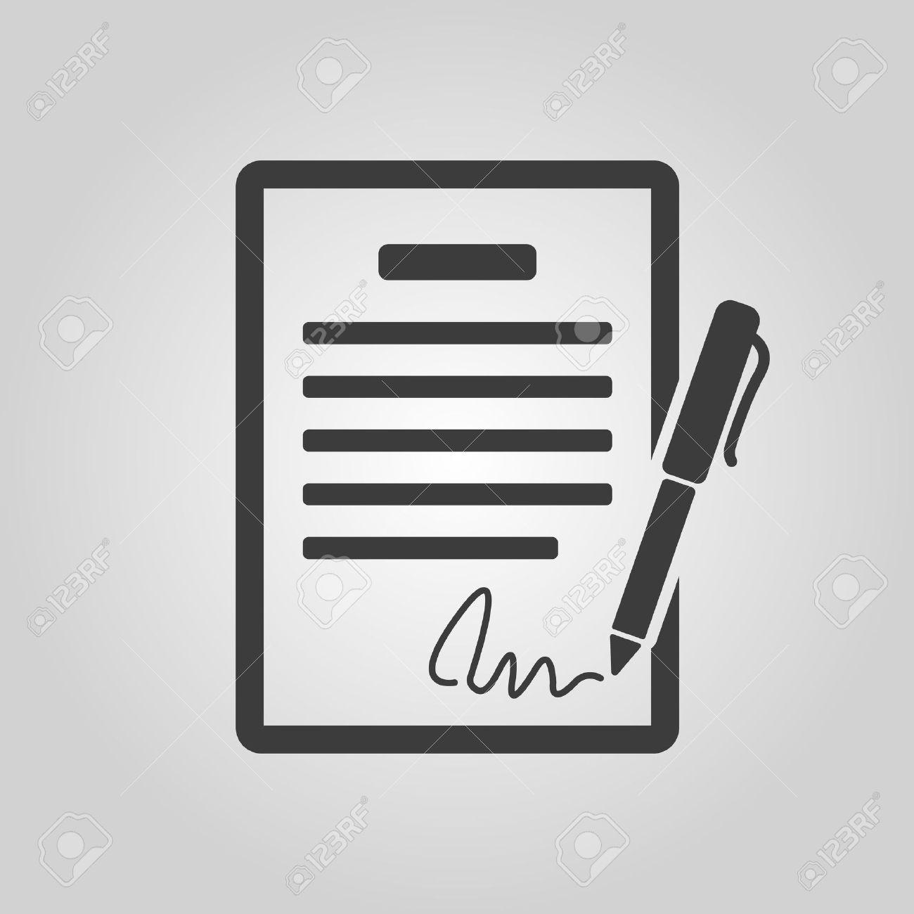 Der Vertrag Symbol. Abkommen Und Unterschrift, Pakt, Abkommen ...